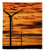 Cheyenne Sunrise Fleece Blanket