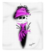 Chic In Pink Silk Couture  Fleece Blanket