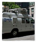 Chicago Abc 7 News Truck Fleece Blanket