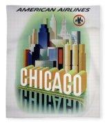 Chicago American Airlines 1950 Fleece Blanket