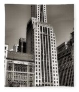 Chicago Architecture - 12 Fleece Blanket
