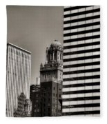 Chicago Architecture - 14 Fleece Blanket