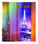 Chicago Art Institute Miniature Paris Room Pa Prismatic 08 Vertical Fleece Blanket