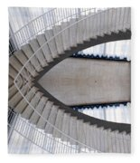 Chicago Art Institute Staircase Mirror Image 01 Fleece Blanket
