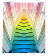 Chicago Art Institute Staircase Pa Prism Mirror Image Vertical 02 Fleece Blanket