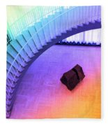 Chicago Art Institute Staircase Pa Prismatic Fleece Blanket