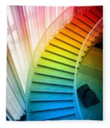 Chicago Art Institute Staircase Pa Prismatic Vertical 02 Fleece Blanket