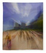 Chicago Beach Zoom Blur Fleece Blanket