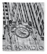 Chicago Board Of Trade Bw Fleece Blanket
