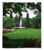Chicago Botanical Gardens Landscape Fleece Blanket