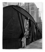 Chicago Bridge  Fleece Blanket