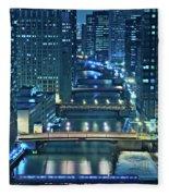 Chicago Bridges Fleece Blanket