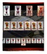 Chicago Bulls Banners Collage Fleece Blanket