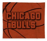 Chicago Bulls Leather Art Fleece Blanket