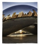 Chicago Cloud Gate At Sunrise Fleece Blanket