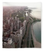 Chicago Coastline Fleece Blanket