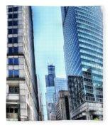 Chicago Concrete Canyons Fleece Blanket