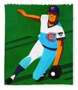 Chicago Cubs 1972 Official Program Fleece Blanket
