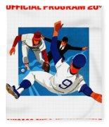 Chicago Cubs 1974 Program Fleece Blanket