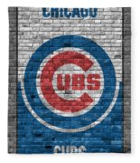 Chicago Cubs Brick Wall Fleece Blanket