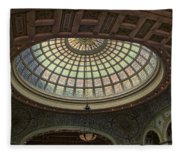 Chicago Cultural Center Tiffany Dome 01 Fleece Blanket