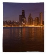 Chicago Dawn Fleece Blanket