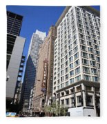 Chicago Downtown Fleece Blanket