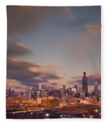 Chicago Dusk Fleece Blanket
