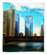 Chicago Fall Fleece Blanket