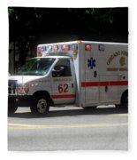 Chicago Fire Department Ems Ambulance 62 Fleece Blanket