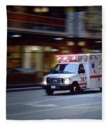 Chicago Fire Department Ems Ambulance 74 Fleece Blanket