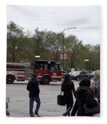 Chicago Fire Department Truck 13 Fleece Blanket