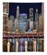 Chicago Full City View Fleece Blanket