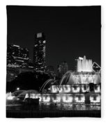 Chicago Grant Park Grayscale Fleece Blanket