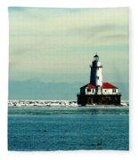 Chicago Harbor Light Fleece Blanket