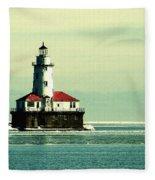 Chicago Harbor Lighthouse Fleece Blanket