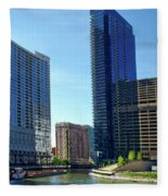 Chicago Heading Up The North River Branch Fleece Blanket