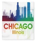 Chicago Il Fleece Blanket