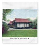 Chicago - Japanese Tea Houses - Jackson Park - 1912 Fleece Blanket