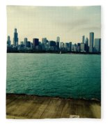 Chicago Lake Michigan Skyline Fleece Blanket