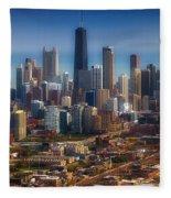 Chicago Looking East 01 Fleece Blanket
