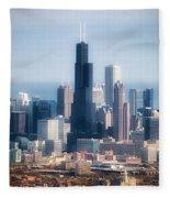 Chicago Looking East 02 Fleece Blanket