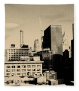 Chicago Loop Skyline Fleece Blanket