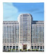 Chicago Merchandise Mart South Facade Fleece Blanket