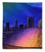 Chicago Millennium Park Bp Bridge Pa 01 Prismatic Fleece Blanket