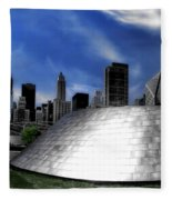 Chicago Millennium Park Bp Bridge Pa 01 Fleece Blanket