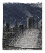 Chicago Millennium Park Bp Bridge Pa 02 Fleece Blanket