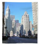 Chicago Miracle Mile Fleece Blanket