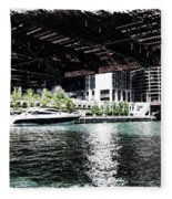Chicago Parked On The River In June 03 Pa 01 Fleece Blanket