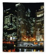Chicago River Crossing Fleece Blanket